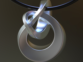 Knot Pendant 30mm Ex in Polished Silver