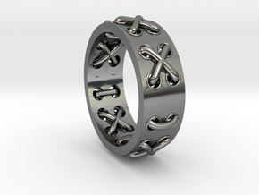 Lace-up Ring - Sz. 10 in Premium Silver
