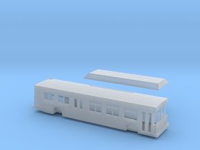 N scale 1:160 new flyer C40lf CNG Bus in Frosted Ultra Detail