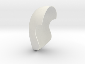 Faceshell-22.5cm in White Strong & Flexible