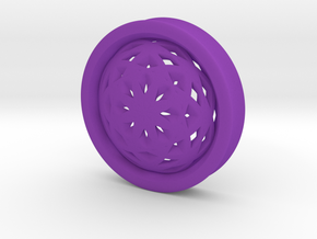 VORTEX2-50mm in Purple Strong & Flexible Polished