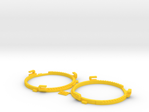 66.5mm Lens Separators | Oculus Rift DK2 in Yellow Strong & Flexible Polished