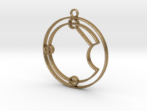 Evie - Necklace in Polished Gold Steel