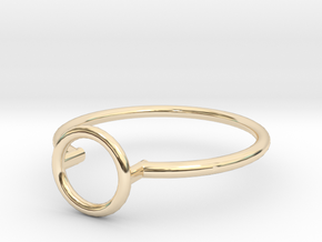 Open Circle Ring Sz. 5 in 14K Gold