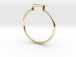 Open Triangle Ring Sz. 7 in 14K Gold