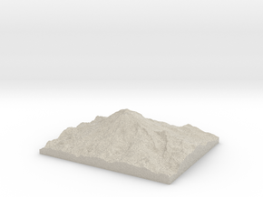 Model of East Crater in Sandstone