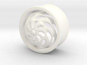 VORTEX4-20mm in White Strong & Flexible Polished