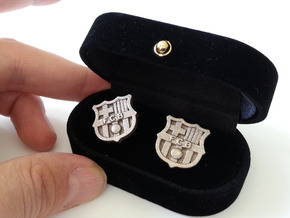 FC BARCELONA cufflinks (Steel) in Stainless Steel