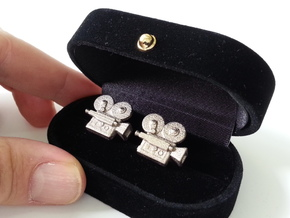 Vintage Camera cufflinks in Stainless Steel