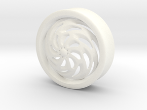 VORTEX4-34mm in White Strong & Flexible Polished