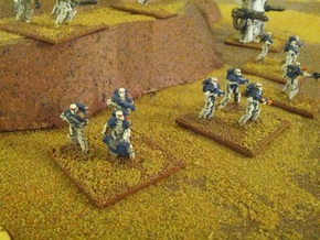 15mm Legionary Crusaders w/ Beam Cutter (x10) in White Strong & Flexible