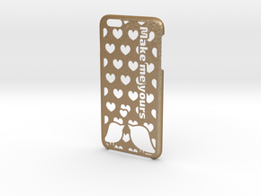 iPhone 6 Plus Case - Customizable in Matte Gold Steel