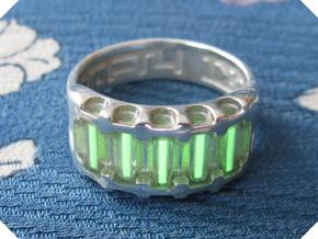 US14 Ring IX: Tritium in Polished Silver