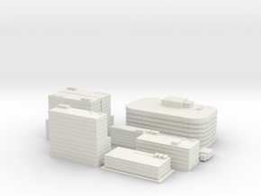City Building Set (8 in 1) - 1 piece version in White Strong & Flexible