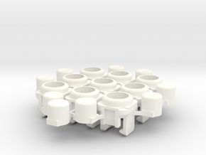 Micro arcade buttons in White Strong & Flexible Polished