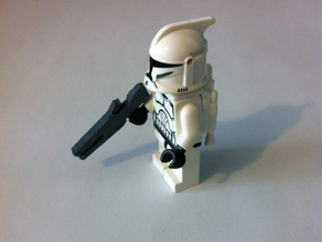 Custom rail gun x4 for Lego minifigs in White Strong & Flexible