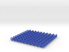 Chainmail Sheet (10x9) in Blue Strong & Flexible Polished