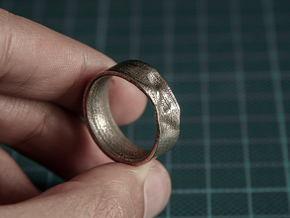 The Crumple Ring - 17mm Dia in Stainless Steel