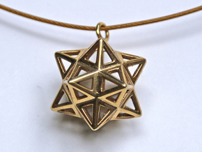 Dodecastar Pendant in Raw Brass
