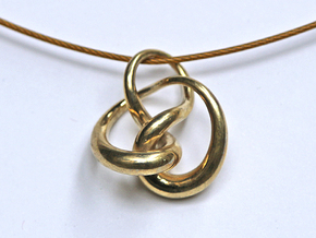 Knot F in Polished Brass