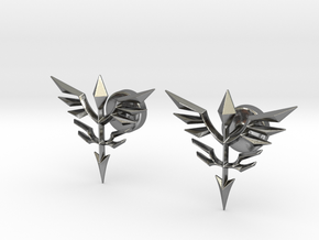 Neo Zeon Cufflinks in Polished Silver