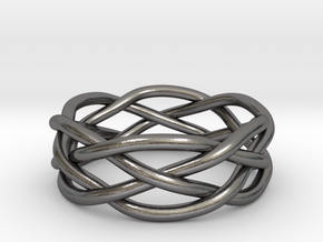 Dreamweaver Ring (Size 10.5) in Polished Nickel Steel