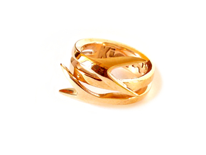 TAILS ring US size 8 (18.2 mm) in Polished Bronze