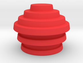 Devo Hats 3 Parts = 3 different sizes in Red Strong & Flexible Polished