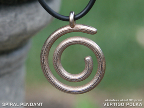 Spiral Pendant in Stainless Steel