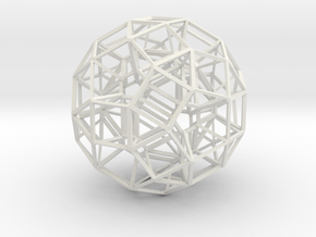 Dodecahedron .06 5cm in White Strong & Flexible