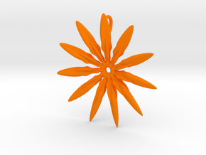 Paddles 11 Points - 4cm, with loopet in Orange Strong & Flexible Polished