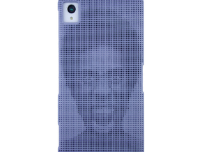 Sony Xperia Z1 3D Printed case - Portrait collecti in Blue Strong & Flexible Polished