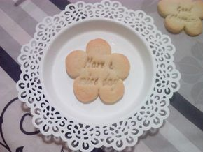 Have a nice day Flower - Cookie cutter in White Strong & Flexible