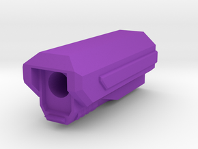 Pistol SciFi Muzzle Compensator (Solid) in Purple Strong & Flexible Polished