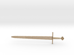 Broadsword Etched in Polished Gold Steel