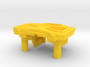 Sleuthing Robot Chest Parts V1.2 in Yellow Strong & Flexible Polished