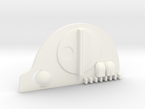 Tank Top Assembled in White Strong & Flexible Polished
