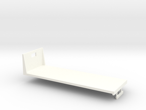 1/64th S Scale 24 foot flatbed in White Strong & Flexible Polished