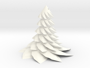 Christmas Tree - Sapin De Noel 80-6-9-2 in White Strong & Flexible Polished