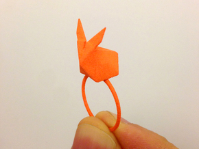 Rabbit Ring colors in Orange Strong & Flexible Polished