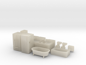 Kitchen and Bath Stuff HO Scale in White Acrylic