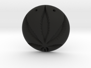 Cannabis Pendant in Black Strong & Flexible