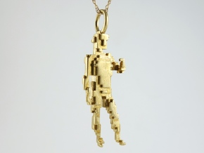 Digital David Pendant in Polished Brass