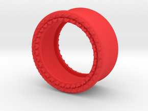 VORTEX8-21mm in Red Strong & Flexible Polished