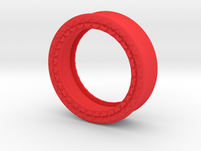 VORTEX8-34mm in Red Strong & Flexible Polished