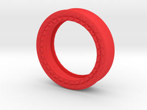 VORTEX8-41mm in Red Strong & Flexible Polished