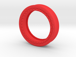 VORTEX8-44mm in Red Strong & Flexible Polished
