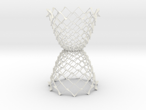 3D Model Double Cone Structure in White Strong & Flexible