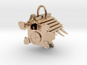 Cuckoo clock in 14k Rose Gold