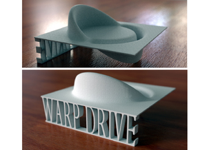 Alcubierre Warp Drive with 3D text in White Strong & Flexible